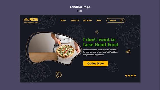 Modèle de page de destination de la bonne nourriture
