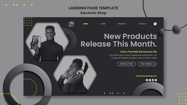 Modèle de page de destination de boutique électronique