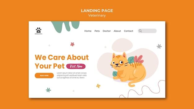 Modèle de page de destination de la clinique vétérinaire