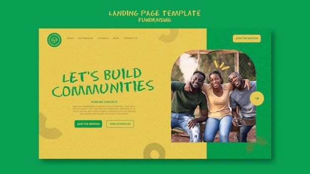 Modèle de page de destination de collecte de fonds