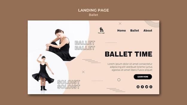 Modèle de page de destination de concept de ballet