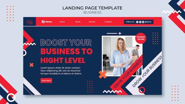 Modèle de page de destination de concept d'entreprise