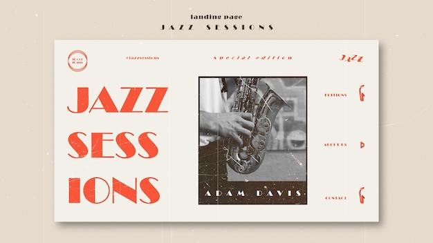 Modèle de page de destination de concept de jazz