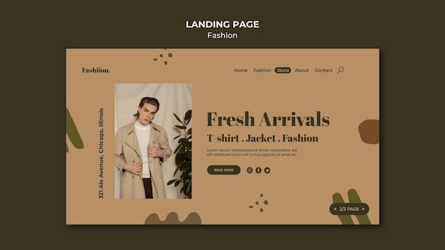 Modèle de page de destination de concept de mode