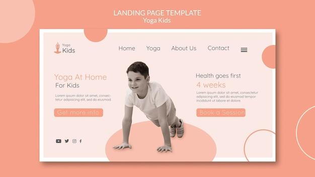 Modèle de page de destination de concept de yoga