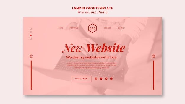 Modèle De Page De Destination De Conception De Studio Web Psd gratuit