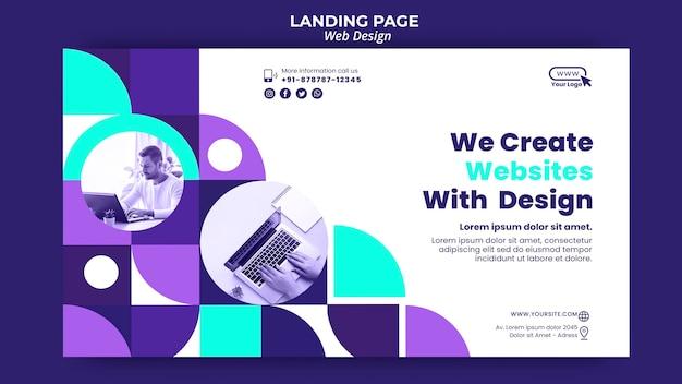 Modèle De Page De Destination De Conception Web PSD Premium