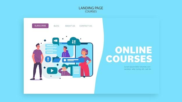 Modèle de page de destination des cours en ligne
