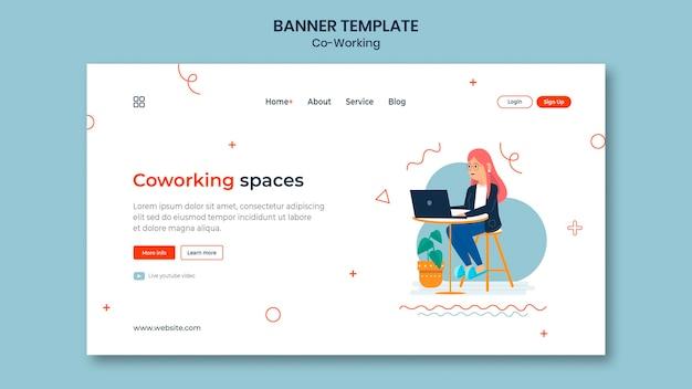 Modèle de page de destination de coworking créatif