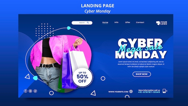 Modèle de page de destination cyber monday