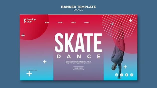 Modèle de page de destination de danse colorée