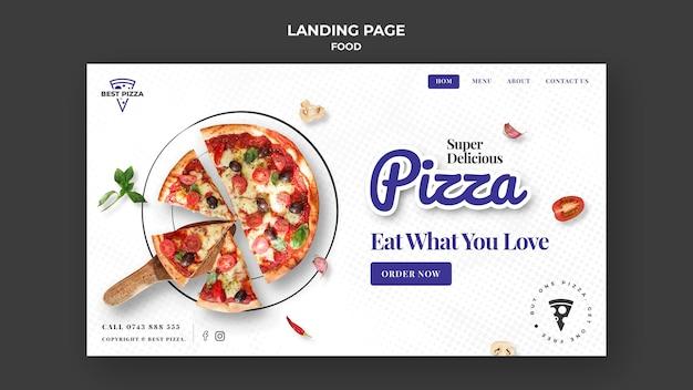 Modèle de page de destination de délicieuses pizzas