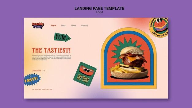 Modèle de page de destination de délicieux plats