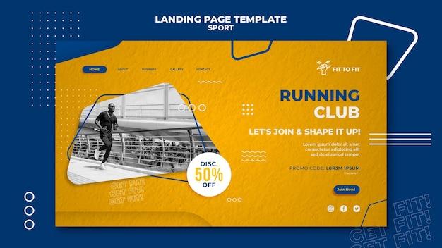 Modèle de page de destination du club de course