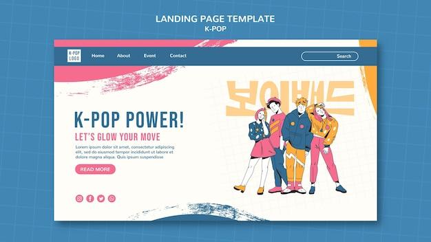 Modèle de page de destination du festival k-pop