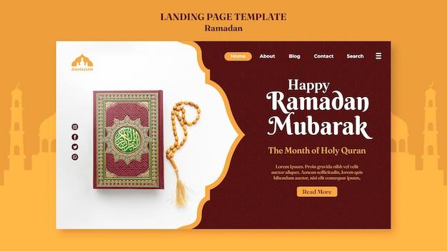 Modèle de page de destination du ramadan kareem