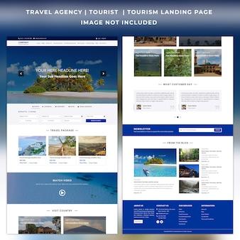Modèle de page de destination du site web de l'agence de voyage