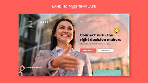 Modèle de page de destination d'entreprise à entreprise