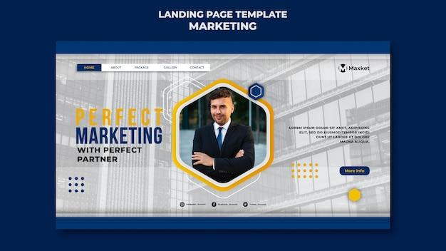 Modèle de page de destination d'entreprise de marketing