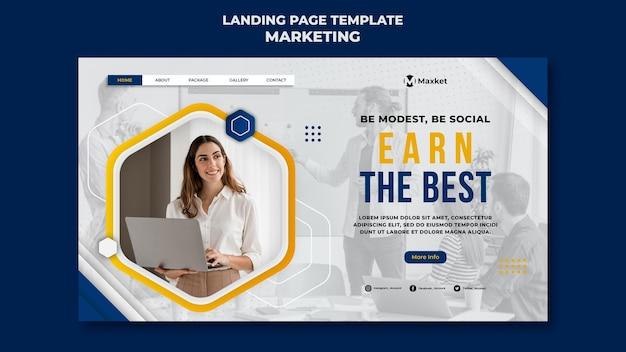 Modèle De Page De Destination D'entreprise De Marketing Psd gratuit