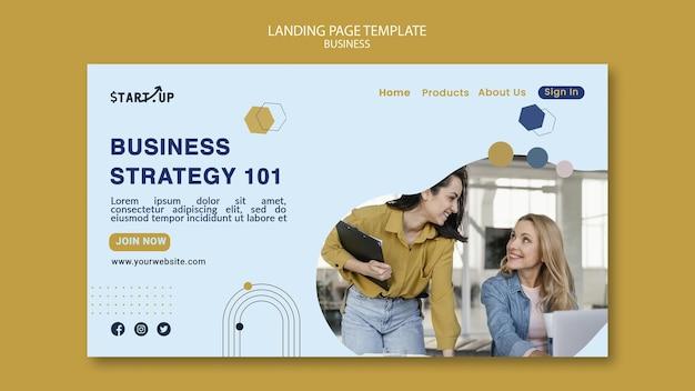 Modèle de page de destination d'entreprise