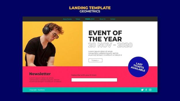 Modèle de page de destination de l'événement de l'année