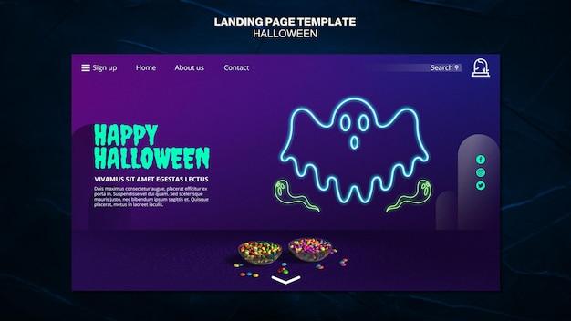 Modèle de page de destination de l'événement halloween