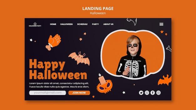Modèle de page de destination halloween