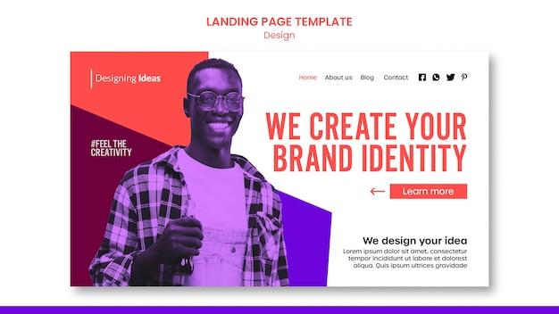 Modèle de page de destination d'identité de marque