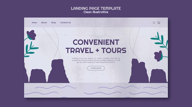 Modèle de page de destination illustrative propre