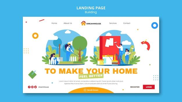 Modèle De Page De Destination Immobilière Psd gratuit
