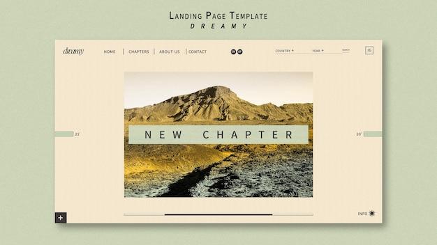 Modèle de page de destination itinérante