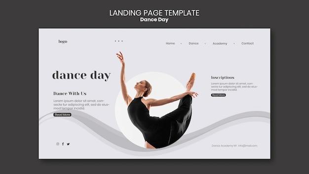Modèle de page de destination de la journée de la danse