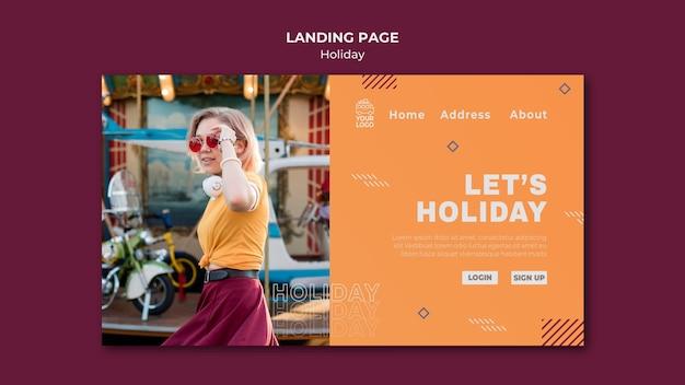 Modèle de page de destination let's holiday