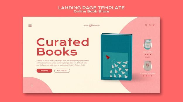 Modèle de page de destination de librairie en ligne