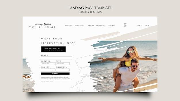 Modèle de page de destination de location de luxe