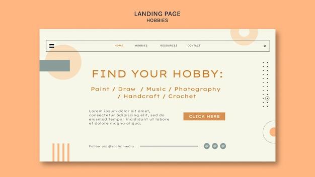 Modèle de page de destination de loisirs minimalistes