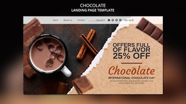 Modèle de page de destination de magasin de chocolat