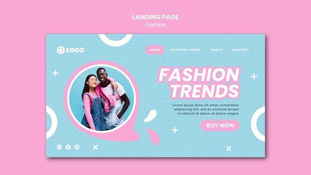 Modèle de page de destination de magasin de mode