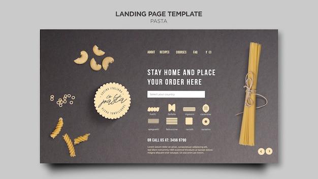 Modèle de page de destination de magasin de pâtes