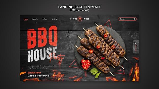 Modèle de page de destination de maison de barbecue