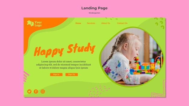 Modèle de page de destination de la maternelle