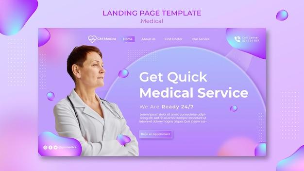 Modèle de page de destination médicale