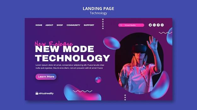 Modèle de page de destination de nouvelle technologie