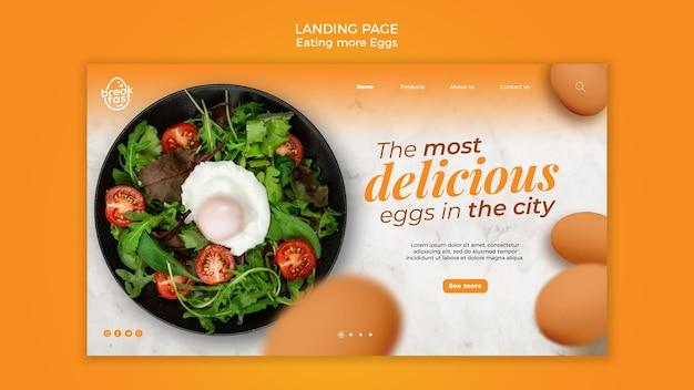 Le modèle de page de destination des œufs les plus délicieux