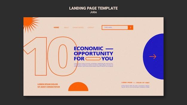 Modèle de page de destination d'opportunité d'emploi