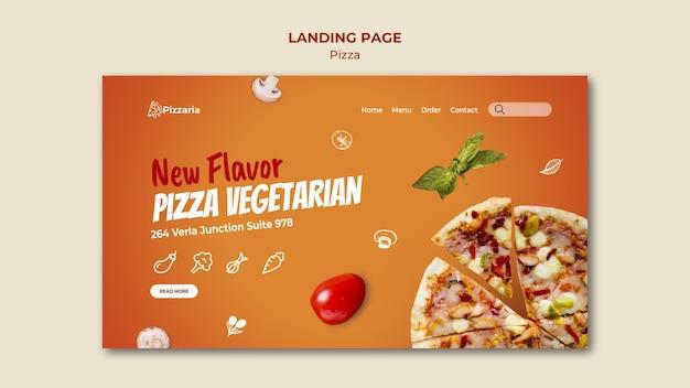 Modèle de page de destination de pizza
