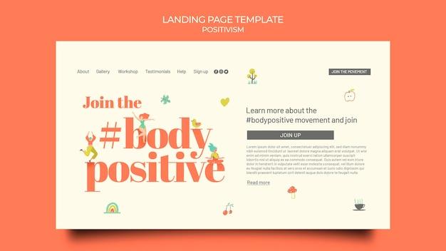 Modèle de page de destination positive pour le corps