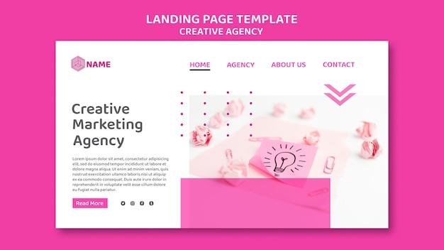 Modèle de page de destination pour agence créative