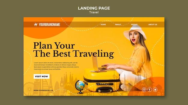 Modèle de page de destination pour agence de voyage